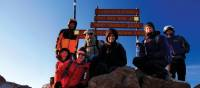 Group photo at Point Lenana upon Mount Kenya | Heike Krumm