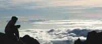 Sunrise on the summit of Mount Kinabalu, Borneo | Amy Croucher