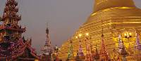 The 'golden' pagoda at dusk. Yangon, Myanmar | Mike Geisel