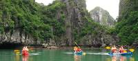 The beautiful surrounding while kayaking in Halong bay