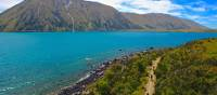 Cycling near Lake Ohau Lodge on the Alps 2 Ocean Cycle Trail | Daniel Thour