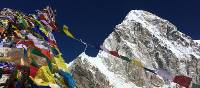 Prayers flags strung at the top of Kala Pattar | Heather Hawkins