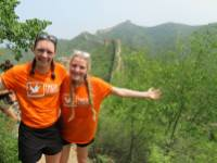 Fundraising for charity on the Huma Great Wall of China Open Challenge |  <i>Claire Smart</i>