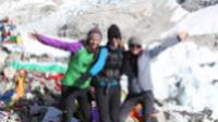 Happy trekkers at Everest Base Camp |  <i>Ayla Rowe</i>