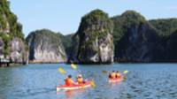 Kayaking day trip on the calm waters through limestone karsts |  <i>Julie Hauber</i>